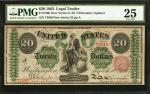 Fr. 126b. 1863 $20 Legal Tender Note. PMG Very Fine 25.