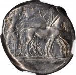 SICILY. Syracuse. Deinomenid Tyranny, 485-466 B.C. AR Tetradrachm (17.44 gms), struck under Hieron I