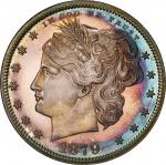 1879 Pattern Washlady Half Dollar. Judd-1597, Pollock-1791. Rarity-6+. Silver. Reeded Edge. Proof-67