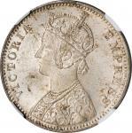 INDIA. British India. Rupee, 1900-C. Calcutta Mint. Victoria. NGC MS-63.