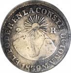 ECUADOR. 2 Reales, 1839-QUITO MV. Quito Mint. ANACS FINE-12.