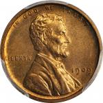 1909 Lincoln Cent. V.D.B. Proof-66 RB (PCGS). CAC.