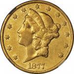 1877-CC Liberty Head Double Eagle. EF-45 (NGC).