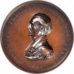 1845 James K. Polk Presidential Medal. Bronze. 62 mm, 5.2 to 5.8 mm thick. Julian PR-9. Choice About