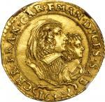 ITALY. Savoy. 4 Scudi dOro, 1641. Turin Mint. Carlo Emanuele II with Cristina di Borbone-Francia as