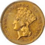 1881 Three-Dollar Gold Piece. AU-55 (PCGS). CAC.