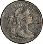 1803 Draped Bust Cent. S-265. Rarity-4. Large Date, Large Fraction. Fine-12 Environmental Damage, To