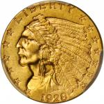 1928 Indian Quarter Eagle. MS-61 (PCGS).