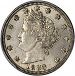 1883 Liberty Head Nickel. With Cents. MS-63 (PCGS).
