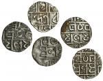 Cooch Behar, Upendra Narayan (1715-63), Half-Rupees (2), 4.61, 4.70g, Devendra Narayan (1763-65), Ha