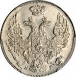 RUSSIA. 10 Kopeks, 1834-CNB HG. St. Petersburg Mint. Nicholas I. PCGS MS-64 Gold Shield.