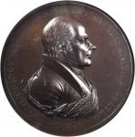 1825 John Quincy Adams Indian Peace Medal. First Size. First Reverse. Bronze. 76 mm. Julian IP-11. M