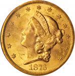 1876-S Liberty Head Double Eagle. MS-62 (NGC).
