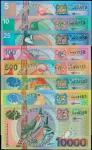 苏里南。中央银行5至10,000盾。