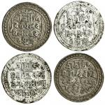 Jaintiapur, Bargosain II (1731-70), Tankas (2), 9.00, 9.98g, Sk. 1653, legends and main symbols as p