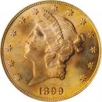 1899年自由帽双鹰 PCGS MS 64+ 1899 Liberty Head Double Eagle