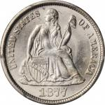 1877-CC Liberty Seated Dime. Type II Reverse. MS-65 (PCGS).