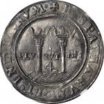 MEXICO. Late Series. 4 Reales, ND (ca. 1542-55). Assayer A (M A). Carlos and Johanna (1516-56). NGC