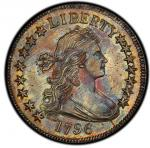 1796 Draped Bust Half Dollar. Overton-101. Rarity-5. 15 Stars. MS-62 (PCGS).PCGS Population: 1, 2 fi