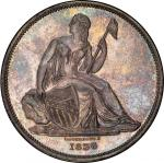 1836 Gobrecht Silver Dollar. Judd-58. Name Below Base. Die Alignment III, Coin Turn. Reeded edge. Pr