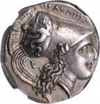 ITALY. Lucania. Herakleia. AR Stater (Nomos) (7.88 gms), ca. 281-278 B.C. NGC Ch EF, Strike: 4/5 Sur