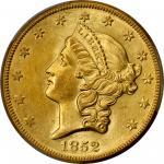 1852-O Liberty Head Double Eagle. MS-61 (PCGS).