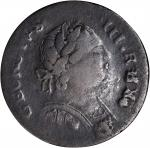 1787 Machins Mills Halfpenny. Vlack 19-87C, W-7940. Rarity-2. GEORGIVS III, Group III. Fine-15.