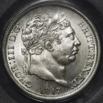 GREAT BRITAIN George III ジョージ3世(1760~1820) Shilling 1817 PCGS-MS65 UNC~FDC
