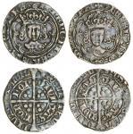 Henry VII (1485-1509), Groats (2), both type IIIC, 2.82g, m.m. none/ greyhound head 1, henric di gra