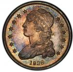 1836 Capped Bust Quarter. Browning-2. Rarity-2. Mint State-64 (PCGS).PCGS Population: 6, 3 fin