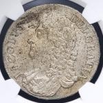 GREAT BRITAIN James II ジェームス2世(1685~88) Crown 1687 NGC-MS61 AU