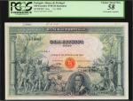 PORTUGAL. Banco de Portugal. 100 Escudos, 1920. P-116s. Specimen. PCGS Currency Choice About New 58.