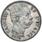 Savoy Coins;Umberto I (1878-1900) 2 Lire 1884 - Nomisma 997 AG Modeste macchie - FDC;150
