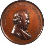 1857 James Buchanan Indian Peace Medal. Bronzed Copper. 76 mm. Julian IP-36. MS-63 BN (NGC).