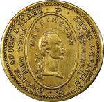 Circa 1830 C. Wolfe, Spies & Clark token. Musante GW-120, Baker-589, Rulau-E NY 962A. Brass. Reeded