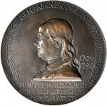 1906 Benjamin Franklin Birth Bicentennial Medal. Bronze. 100.4 mm. By Augustus and Louis Saint-Gaude