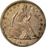 1854 Liberty Seated Silver Dollar. OC-1. Rarity-3+. AU-58 (PCGS). CAC.