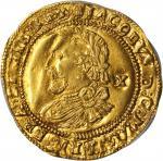 英国。詹姆斯一世(1603 - 25)1/2劳雷尔金币。