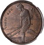 NEW ZEALAND. Christchurch. J. Caro & Co. Penny Token, ND (1860-64). By: Stokes Melb. NGC MS-62 BN.