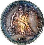 1861 Liberty Seated Quarter. Proof-66 (PCGS).