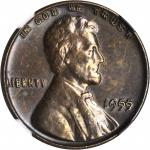 1955 Lincoln Cent. FS-101. Doubled Die Obverse. Unc Details--Cleaned (NGC).