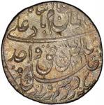 AWADH: Wajid Ali Shah, 1847-1858, AR rupee, Lucknow, AH1269 year 6, KM-365。3, slight uneven tone, lu