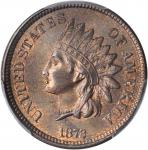 1872 Indian Cent. Bold N. MS-65 BN (PCGS).