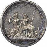 1826 Erie Canal Completion. Silver. 45 mm. HK-1000. Rarity-6. MS-61 (NGC).