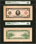 Fr. 956a. 1914 Red Seal $20 Federal Reserve Note. Richmond. PMG Choice Uncirculated 63. Front & Back
