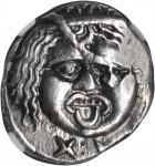 ITALY. Etruria. Populonia. AR 20 Asses (8.64 gms), ca. 3rd Century B.C. NGC Ch EF, Strike: 4/5 Surfa