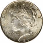 1922-D Peace Silver Dollar. MS-66 (PCGS).