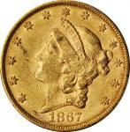 1867-S Liberty Head Double Eagle. AU-55 (PCGS). CAC.