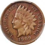 1909-S Indian Cent. VF Details--Environmental Damage (PCGS).