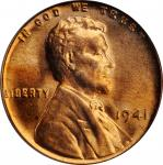 1941 Lincoln Cent. FS-101. Doubled Die Obverse. MS-65 RD (PCGS).